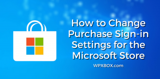 How to change purchase sign-in settings for the Microsoft Store