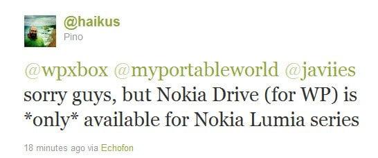 Jaikus Pino Nokia Drive App