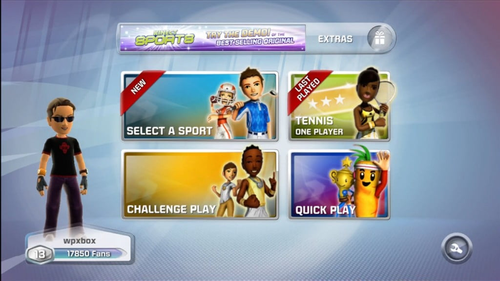 Kinect Sports 2 Start Screen
