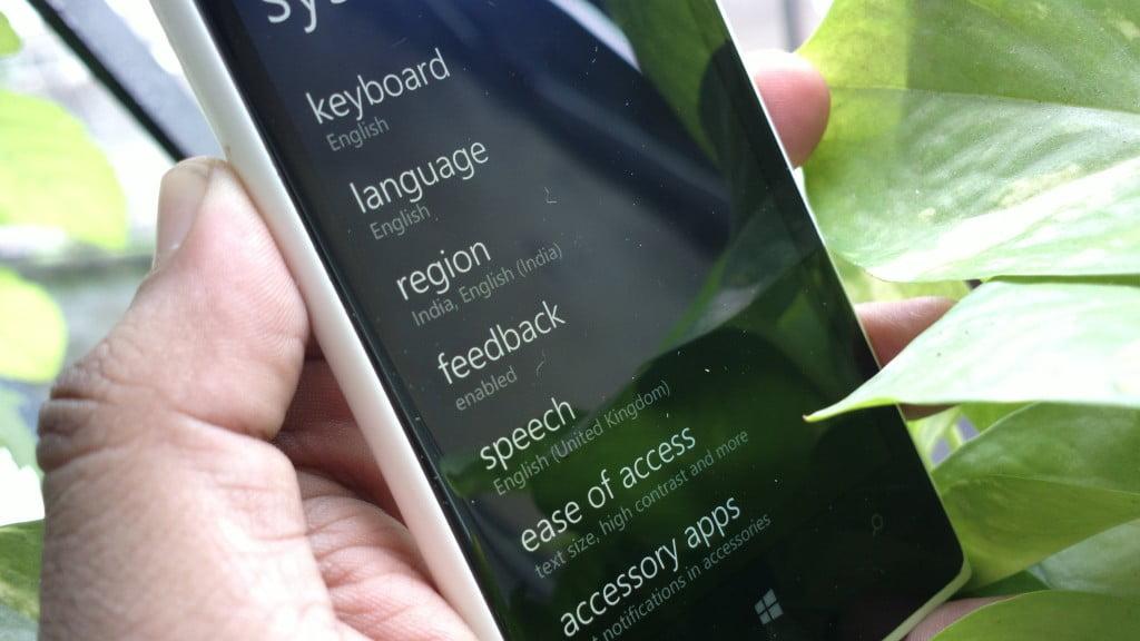 Languag Settings for Cortana in India