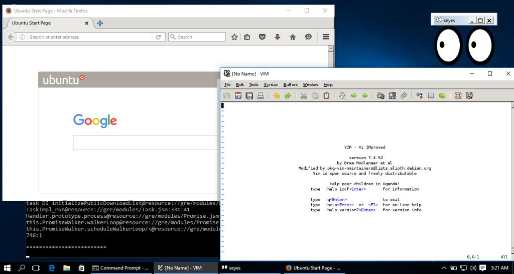Linux Apps Bash on Windows 10