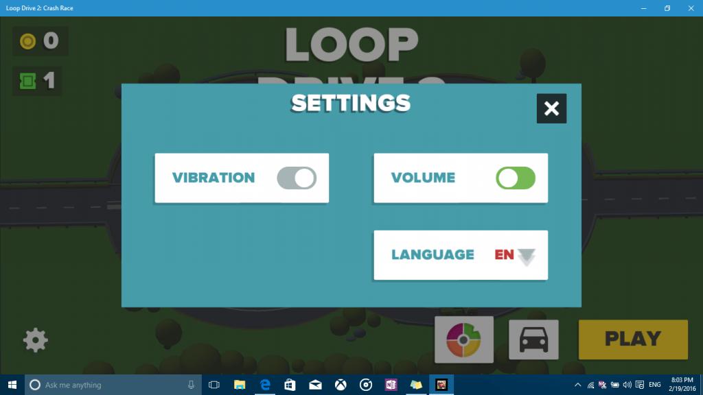 Loop Drive settings