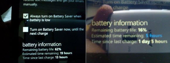Lumia 510 Battery Performance
