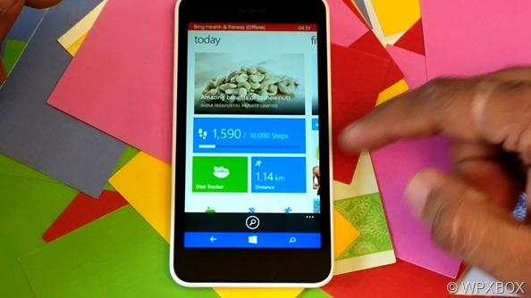 Lumia 630 Step Tracking