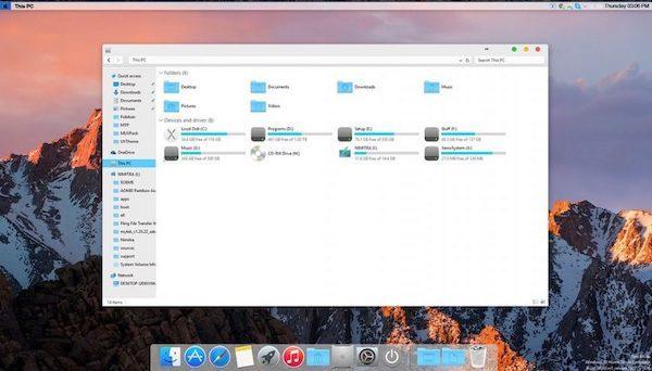 Mac Theme on Windows 10 PC