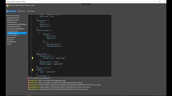 Microsoft Edge Extension Toolkits