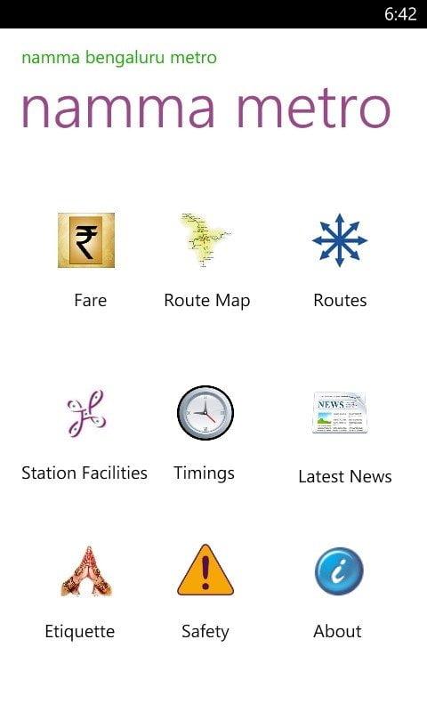 Namma Banglore Metro App
