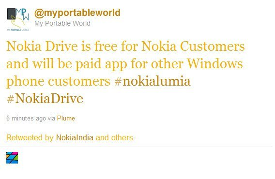 Nokia Drive to be Paid