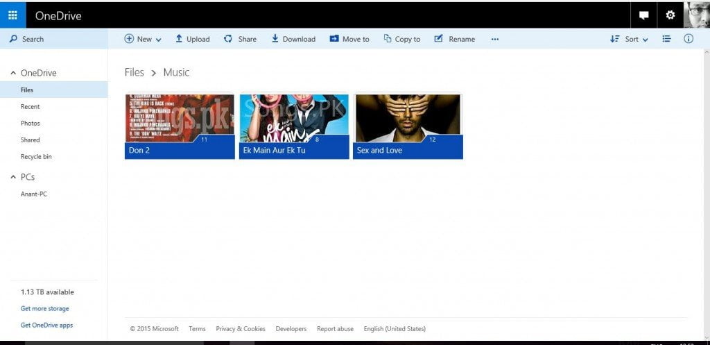 OneDrive Music Collection