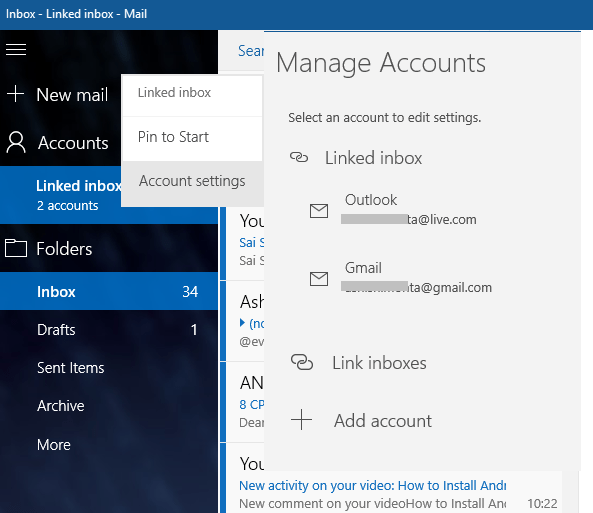 Outlook Linked Inboxes PC 5