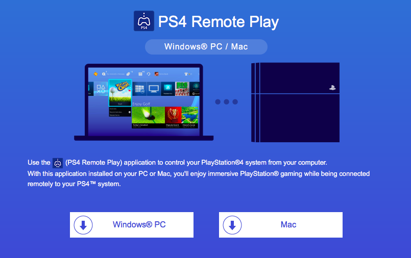 PS4 Play for Windows 10 MAC