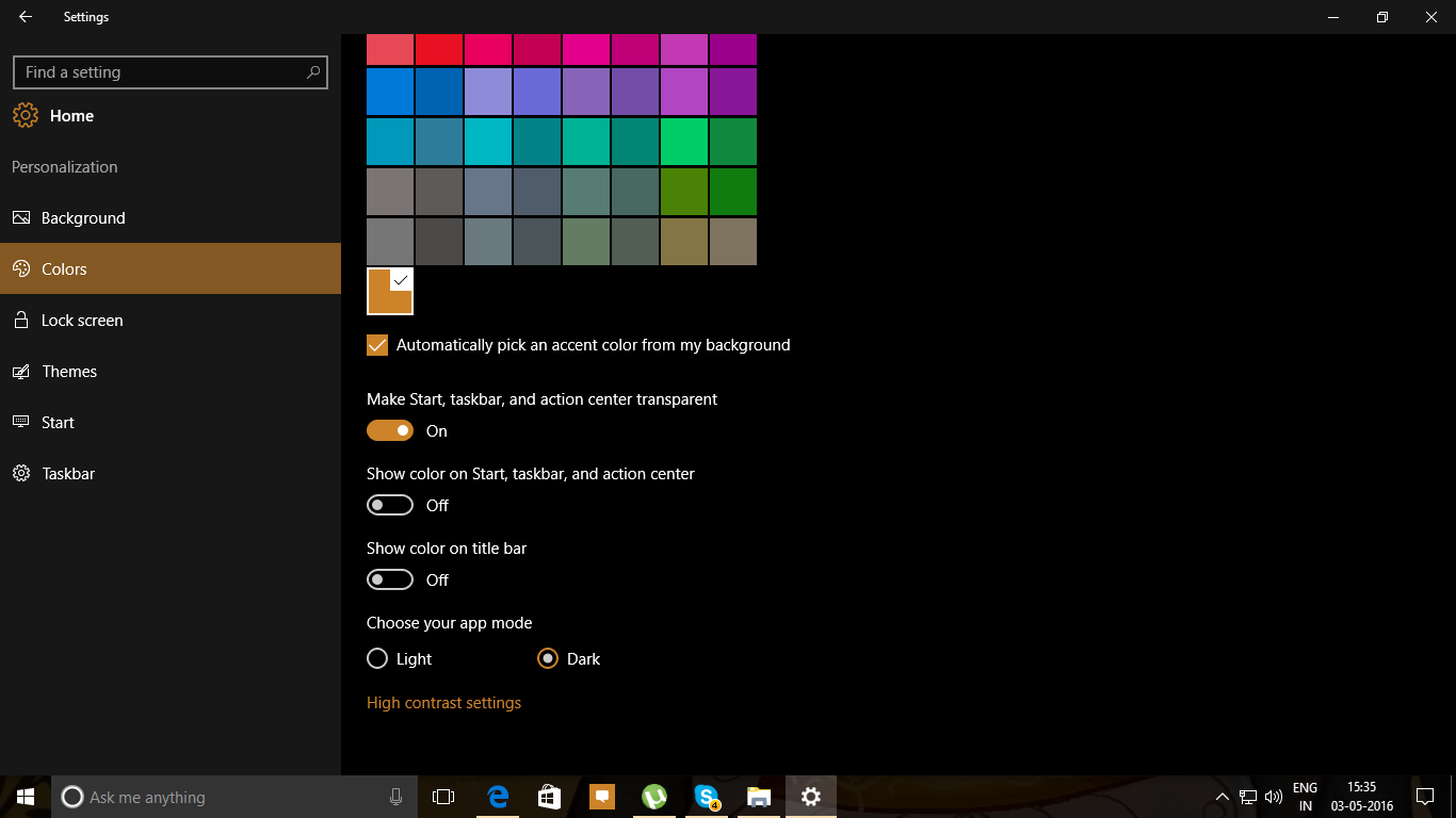 Change Colors for Windows 10 PC