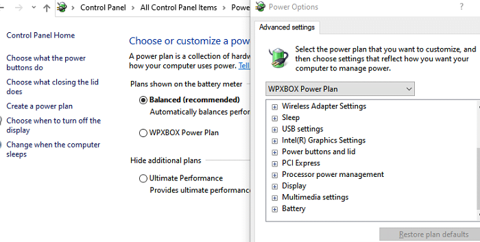 How to create a new Power Plan in Windows 10