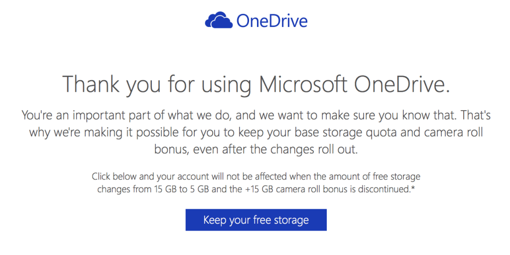 Preview OneDrive Free Storage