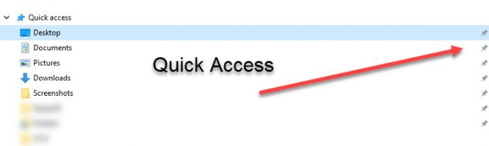 Quick Access in Windows 10