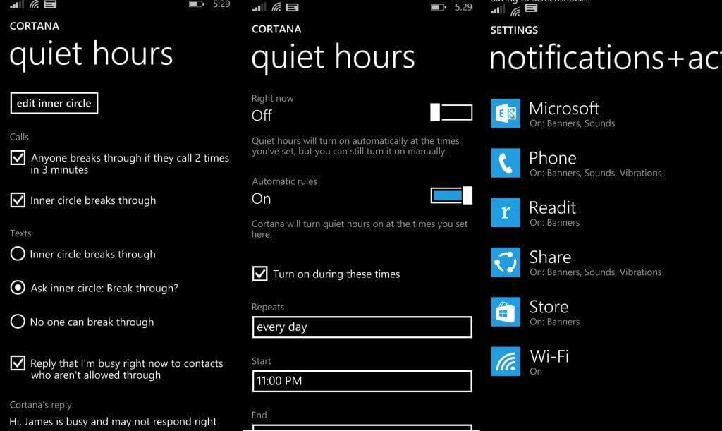 Quiet Hours in Windows Phone 8.1