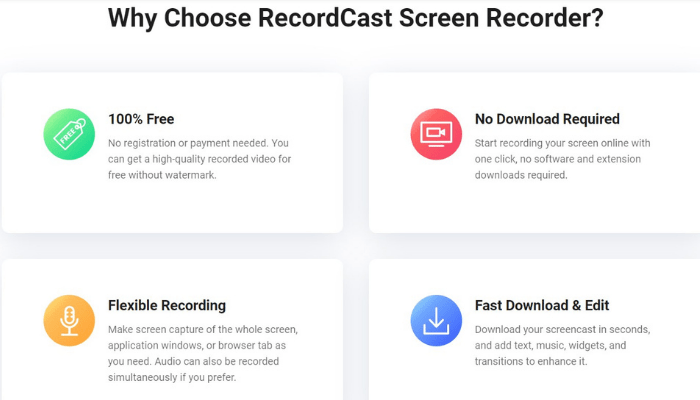 RecordCast Review Features