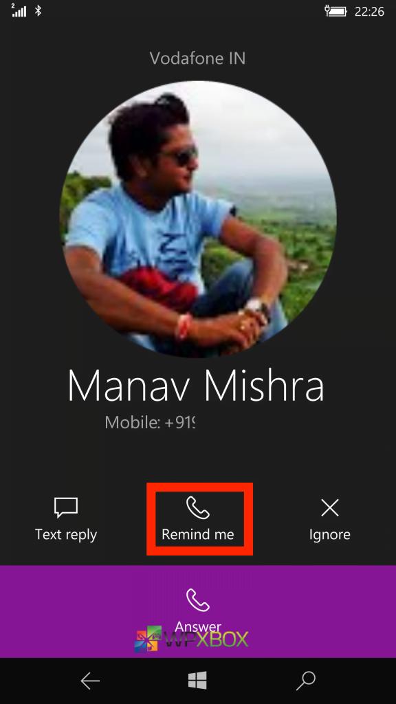 Remind Me Cortana Windows 10 Mobile 1