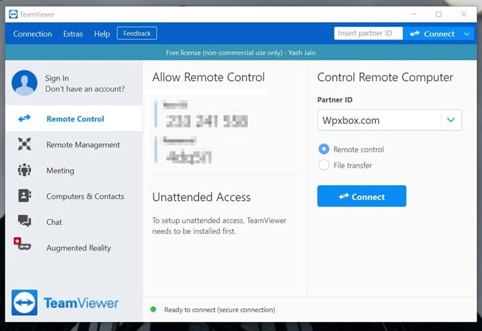 [Remote Access Windows 10 using Teamviewer