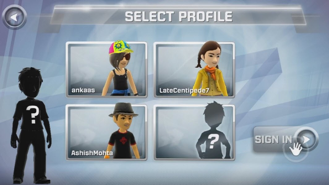 Select Profile from Recent Profile List