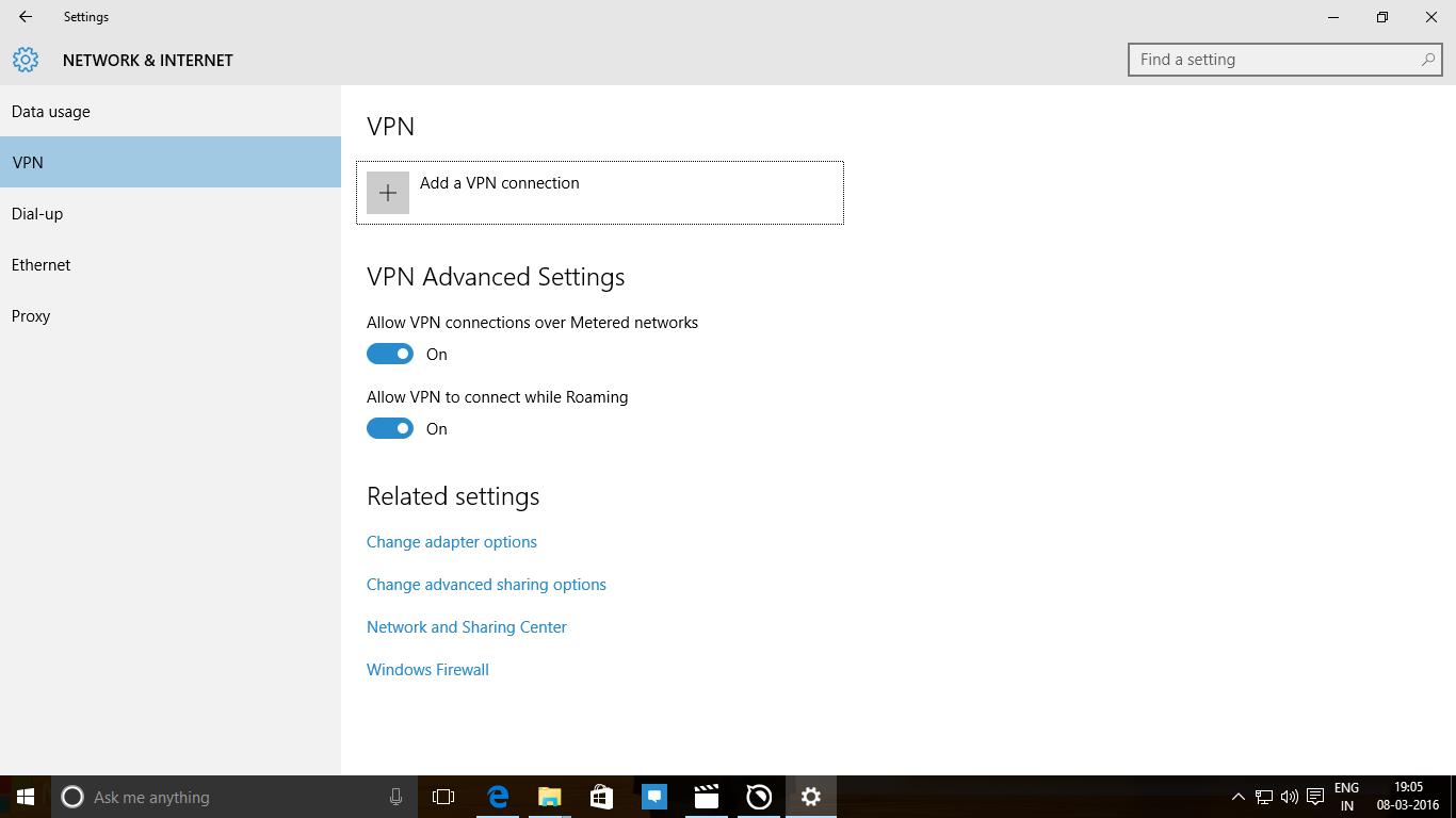 Setup VPN Windows 10