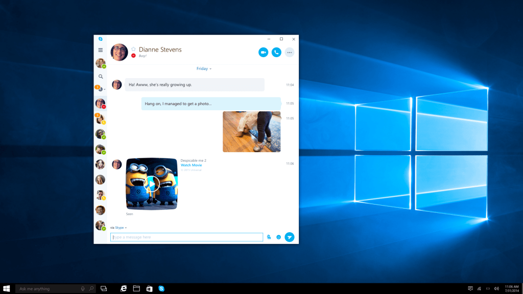Skype Universal Windows 10 App