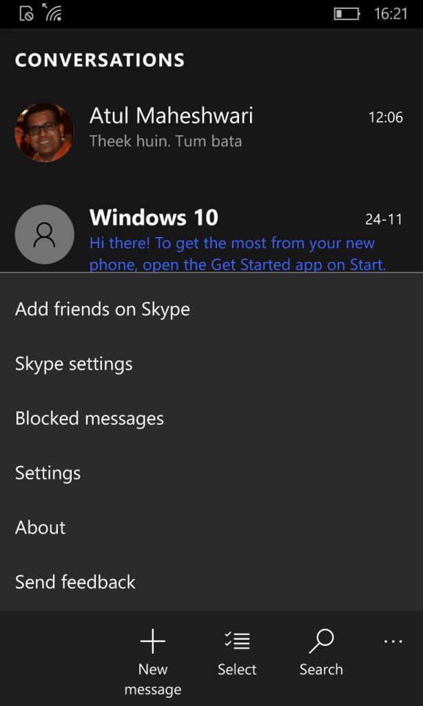 Skype Video App Settings 1