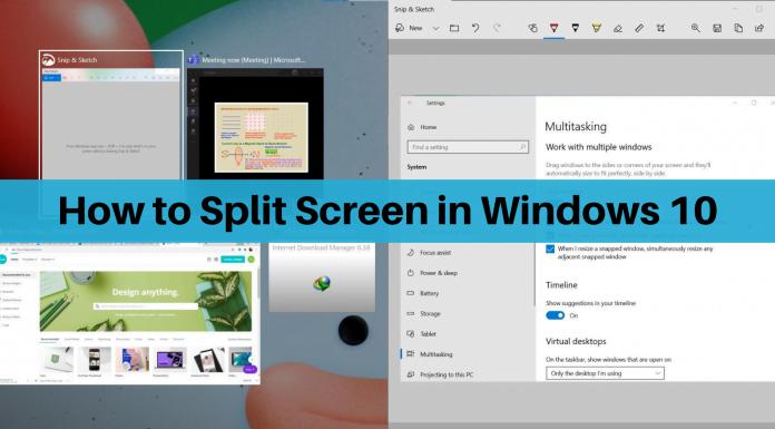 Split Screen Windows 10