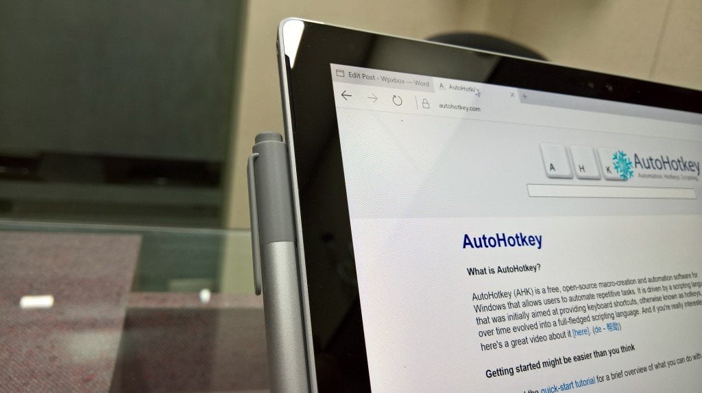 Surface Pen AutoHotKey