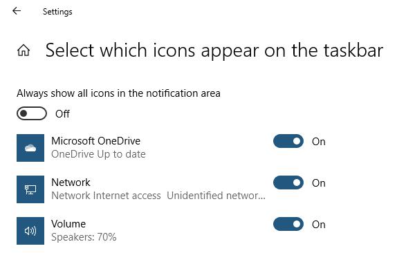 Taskbar Notification Control