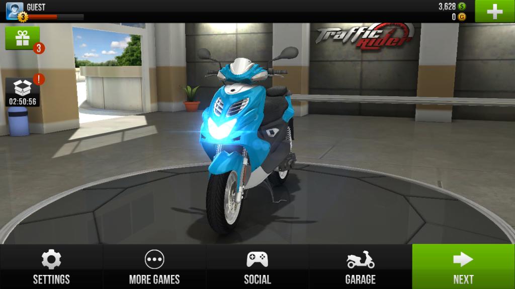 Traffic Rider start