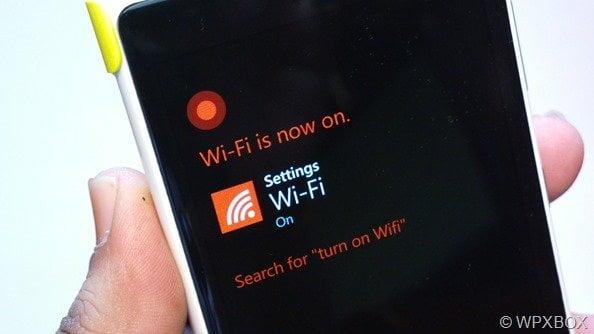Turn on Wifi Cortana