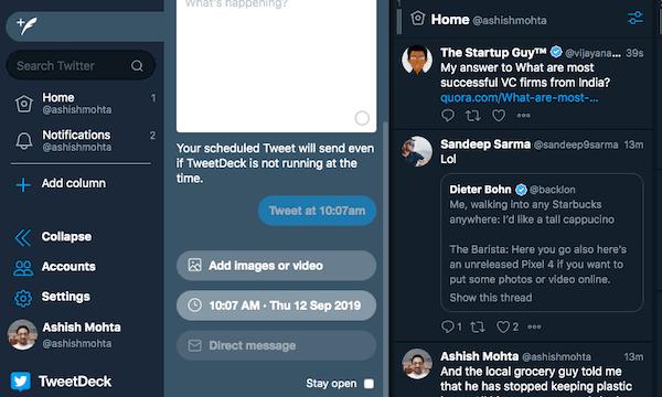 Tweetdeck Schedule Messages