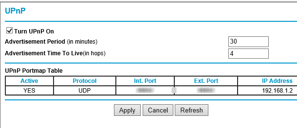 UPnP Support in Router