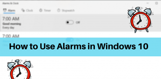 Using Alarms in Windows 10