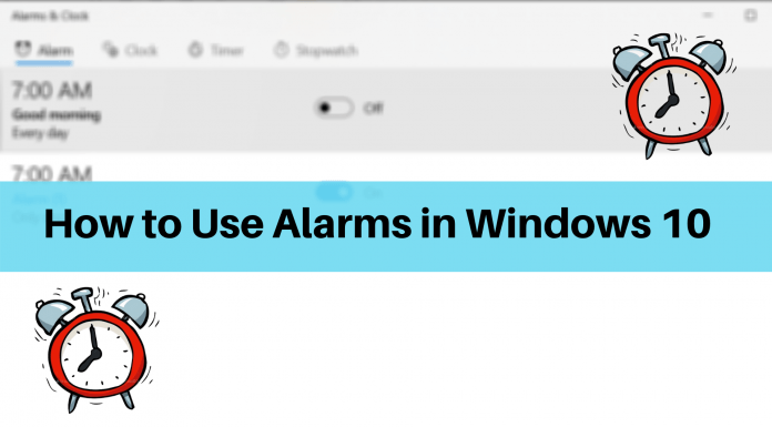 Using Alarms in Windows 10
