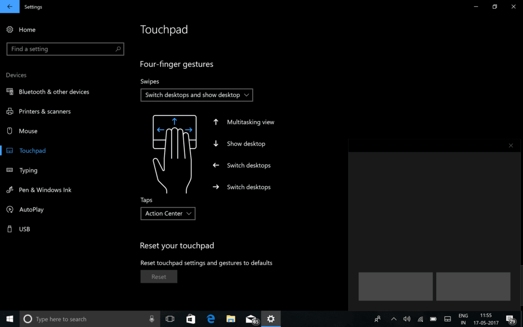 Enable Virtual Touchpad Windows