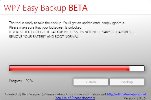 WP7 Easy Backup Beta