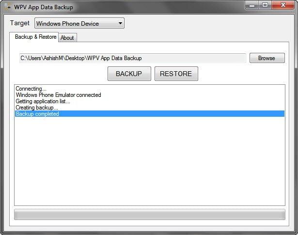 WPV App Data Backup Tool