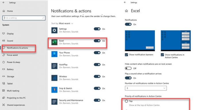 Windows 10 App Notification Prioritty