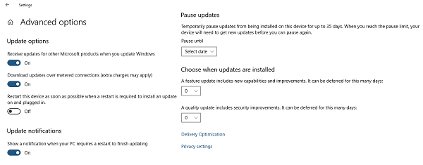 Windows 10 Delay Updates