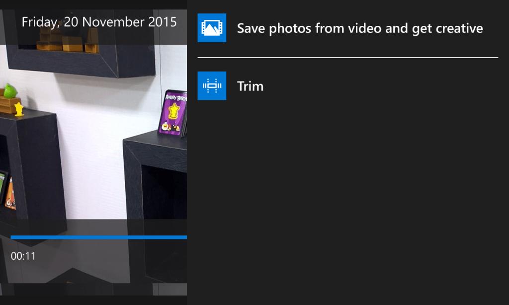 Windows 10 Mobile Trim Option