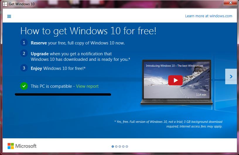 upgrade Windows 7 Windows 10