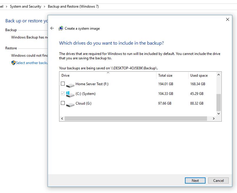 Full Backup of Windows 10