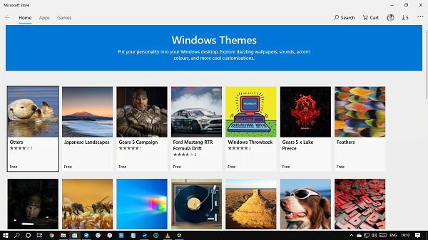 Create install themes windows