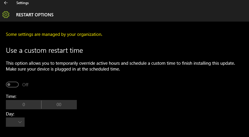 Windows 10 Update Active Hours 1