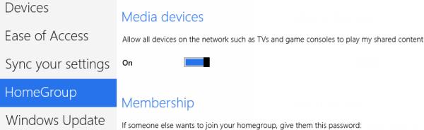 Windows 8 Media Device Settings