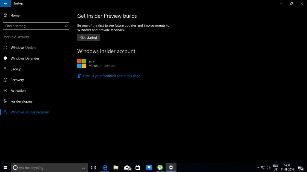 Windows Insider Programe