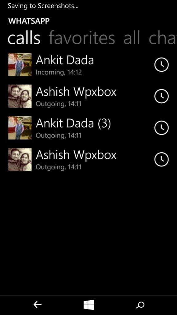 Windows Phone WhatsApp Call