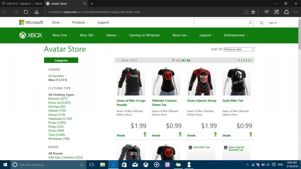 Xbox Avatars Store